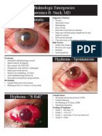 Ophthalmology Emergencies Handout