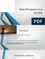 Role of Women in a Society Rabeeha