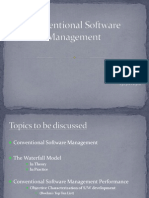 Conventional Software Management