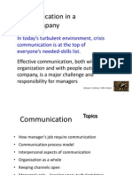 Communication in a Company