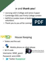 Natecla London Conference