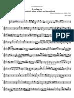 Bach Sonata for Flute and Harpsichord in g Minor i Allegro