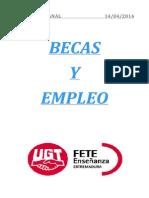 Boletín de becas y empleo. Semana del 14 de abril de 2014