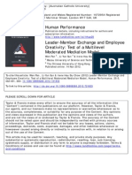6. Pan Et Al. (2013) LMX and Employee Creativity