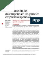 la evaluacion del desempeño de las grandes empresas españolas