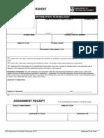 FEIT Assignment Cover Sheet