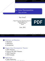 Singular Value Decomposition - Lecture Notes