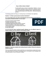 Buy v/s Rent a Home in Dubai?