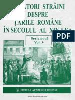 Calatori Straini Despre Tarile Romane in Sec. XIX Vol.V