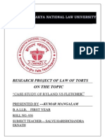 Research Project of Law of Torts (Autosaved)