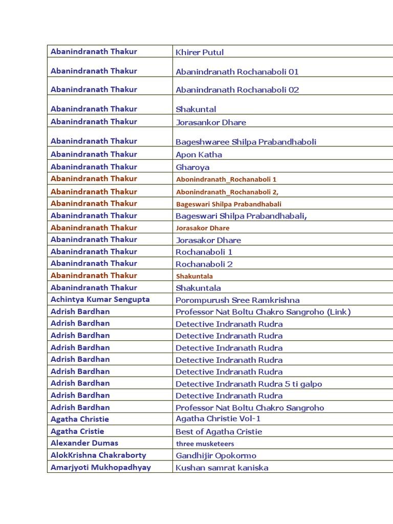 Samagra bengali holmes sherlock pdf in