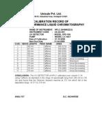 Hplc Calibration