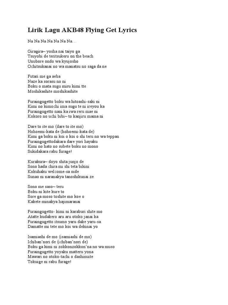 Kata Kata Lirik Lagu