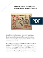 The Experience of Tamil Refugees