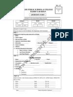 admission form 201411