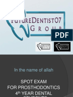 Prostho Pictures for Spot Exam
