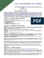 Normas Especiais Torneio Interestadual Sub 15 2014
