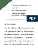 Archbishop Wilton Gregory – Louisiana Priests' Convention