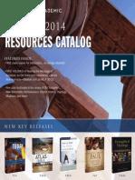 Zondervan Academic Spring 2014 Resources Catalogue