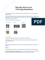 How to Print Barcodes That Are Not Supported by SAP Using Smartforms