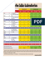 2014 metu darbo kalendorius
