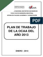 Plan de Trabajo Ocaa 2013