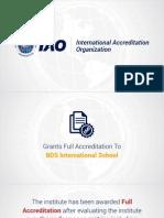 BDS International School granted full accreditation by International Accreditation Organization