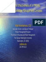 PS 10 PMO Effectiveness via KM, Anantatmula