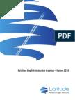 Aviation English Instructor Training - Spring 2014