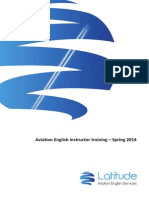 Aviation English Instructor Training - Spring 2014
