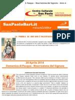 20 Aprile 2014 - Domenica Di Pasqua - Risurrezione Del Signore - Anno A