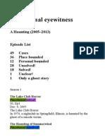 Paranormal Eyewitness Accounts
