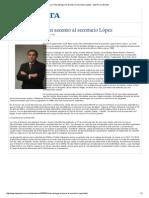 La Corte deniega un ascenso al secretario López - Imprimir La Gaceta