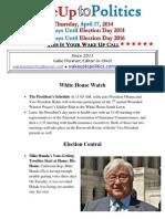 Wake Up to Politics - April 17, 2014