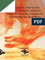 Manual de orientação sobre controle médico sobre controle médico ocupacional da exposição ocupacional da exposição a substâncias químicas a substâncias química