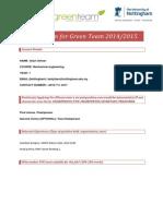 Application for Green Team 2014
