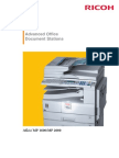Ricoh Aficio MP 1600/ MP 2000 Product Brochure
