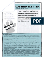6th grade newsletter april 17 2014
