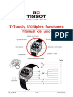 Manual Reloj Tissot Touch 1853