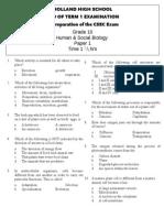 Grade 10 Human Bio