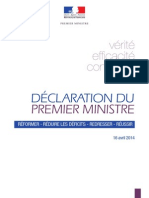 2014.04.16 - Declaration de Manuel Valls Premier Ministre