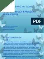 PERKIM PS 1 Uu No 1 2011 Perumahan Dan Kws Perkim