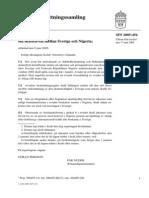 DTC agreement between Nigeria and Sweden