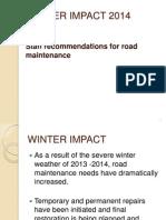Winter Impact 2014 - April 16 Public Works meeting