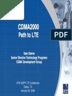 CDMA Evolution Path to LTE