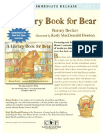 A Library Book for Bear Press Release