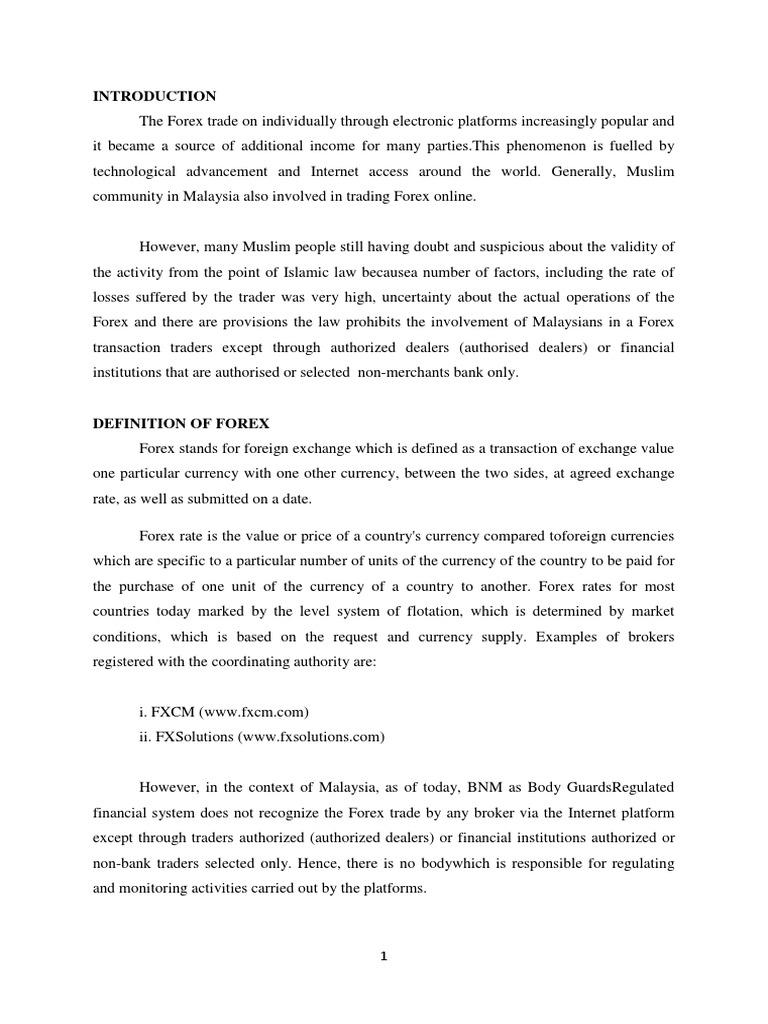 perdagangan forex di malaysia ilegal