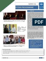 UnDP Justice Program Newsletter September 2009