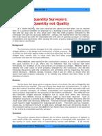 a2011 - QS - Quantity Not Quality
