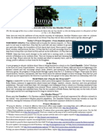 Jumaa Prayer Bulletin 18 April 2014